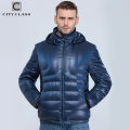City Class Ultralight Mens 90% White Duck Down Jacket Autumn Winter down coat with removable hood windproof for male  15850