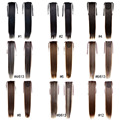 HOT Selling 22inch 55cm 100g/pcs Fashion Ponytail Hairpieces Braid Straight Synthetic Ponytail Hair Extension 16 color avaible