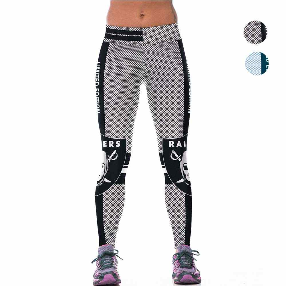 8f42bd33 Two Color Hot Women Sporting Legging 3D Printed Raiders Workout ...
