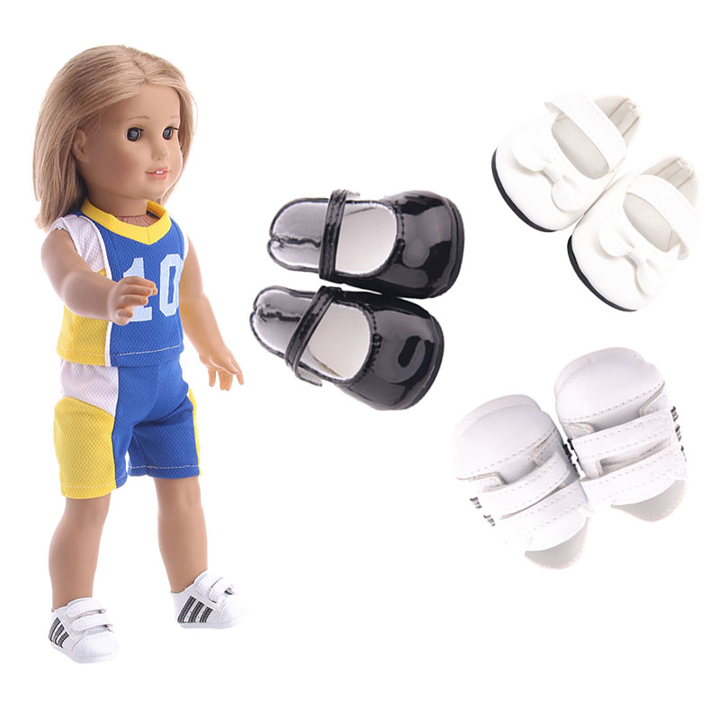 Doll Clothes Shoes 3 Styles Doll Leather Shoes For 18 Inch American Doll For Generation Doll AccessoriesGirl`s Toy