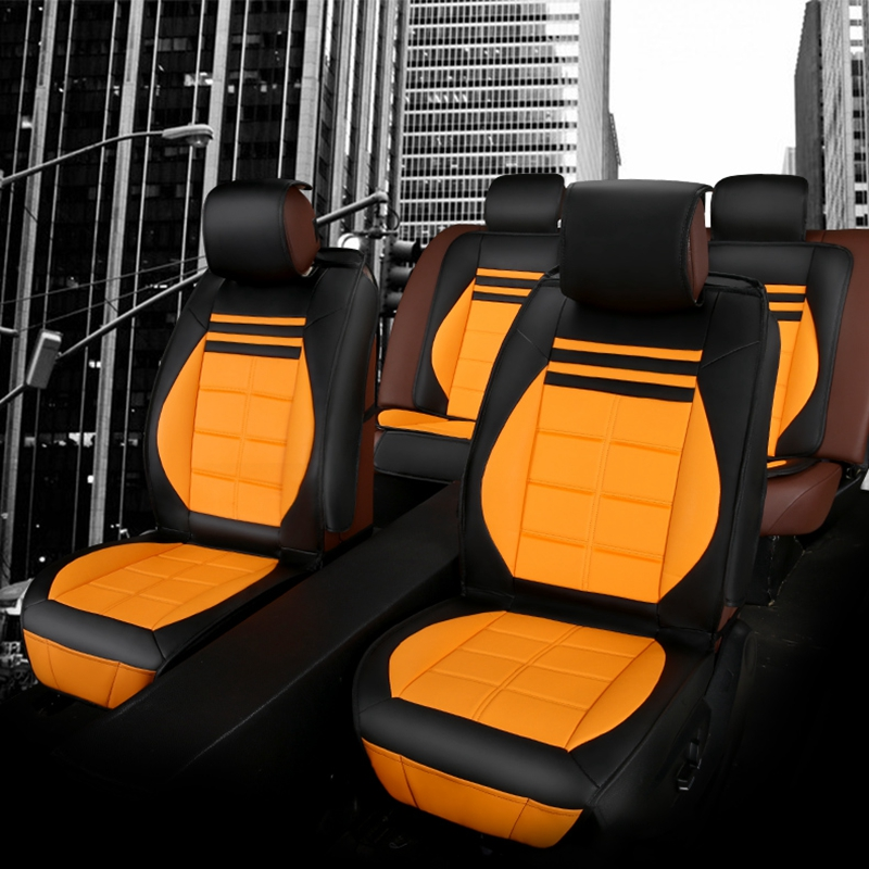luxury leather water proof universal car seat cover set. Black Bedroom Furniture Sets. Home Design Ideas
