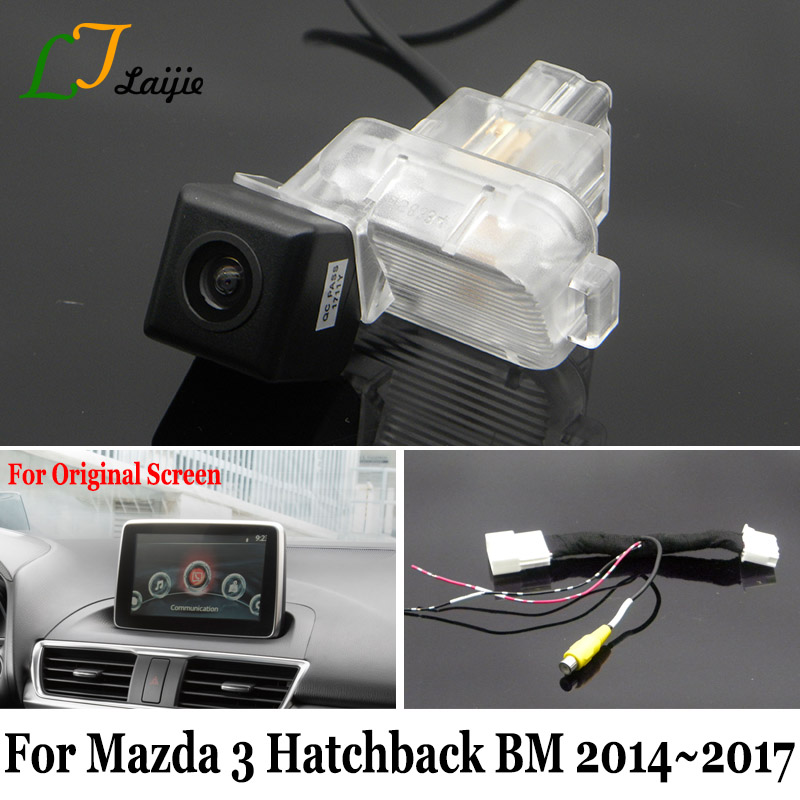 Laijie backup camera with adapter cable for mazda 3 mazda3 hatchback laijie backup camera with adapter cable for mazda 3 mazda3 hatchback bm 20142017 original screen compatible rear view camera in vehicle camera from asfbconference2016 Choice Image