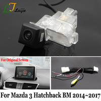 Laijie Backup Camera With Adapter Cable For Mazda 3 Mazda3 Hatchback BM 2014~2017 / Original Screen Compatible Rear View Camera