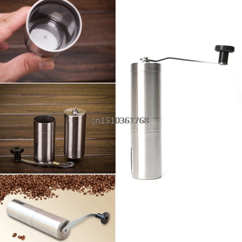 Manual Coffee Grinder Conical Burr Mill for Precision Brewing Brushed Stainless Steel Coffee Bean Grinder Mill Hand Grinding Kit manual coffee grinder conical burr mill stainless steel portable hand burr grinders