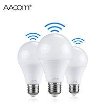 10 ワット 15 ワット 20 ワットアンプル LED E27 センサーレーダー電球 220 V Pir モーションセンサー、スマート LED ランプ自動オフ/6500 18K A65 A70 A80
