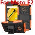 Para la caja del teléfono motorola moto e2 e 2nd gen xt1527 xt1511 XT1505 Dual Layer Pata de cabra Heavy Duty Armor Híbrido Caso de la Cubierta de Silicona