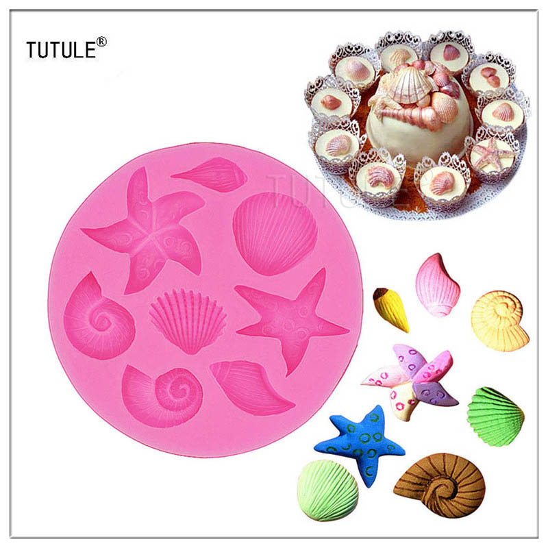 Gadgets - Sea Stars Shells Silicone Mold Fondant Chocolate Melte Candy Cake Cupcake Cookie Decoration