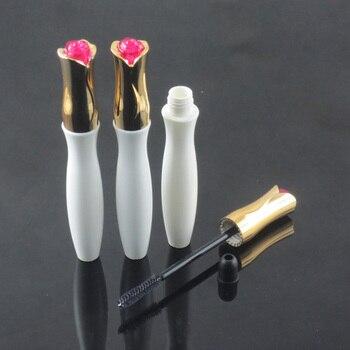 10-12ml Plastic AS empty Mascara Bottle/tube, Liquid Eyelash Growth Bottle round shape with flower cap