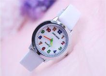 Для детей часы Повседневное модные милые цветы студентов смотреть жизни Водонепроницаемый PU Кожаный ремешок кварцевые наручные часы для девочек