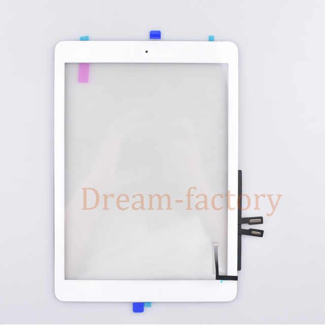 For iPad 2018 A1893 A1954 Touch Screen Digitizer For iPad 6th Front Sensor Glass includes Home Button +Camera holder+Adhesive