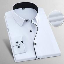 قميص رجالي جديد 2019 مقاس كبير 8XL مقاس ضيق من القطن بأكمام طويلة قميص رجالي غير رسمي قمصان اجتماعية للربيع والخريف