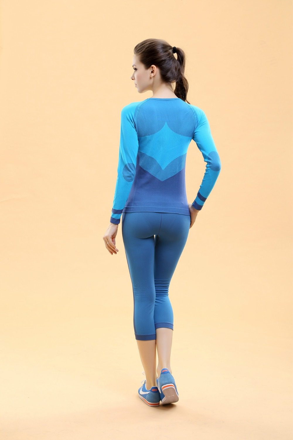Women s yoga sets sport suit workout clothes female fitness sports - Aliexpress Com Buy Women Tops Shorts Yoga Sets Fitness Clothing Sport Suit For Female Women S Gym Panties Pilates Running Slim Leggings Shirts From