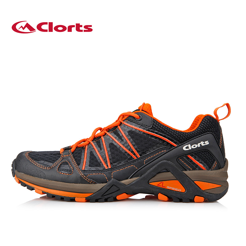 ФОТО Clorts Men Running Shoes PU Mesh Outdoor Shoes Breathable Run Men Sport Shoes 3F015A/B