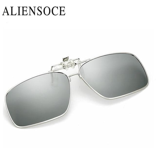 Myopia Clip on Sunglasses Smart Discoloration Rimless Clip Glasses ...