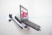 Gas Spring Wall Mount Laptop Holder Arm Aluminum Alloy Full Motion 10-17 inch Laptop Mount Stand Lapdesk GM111W-LDM