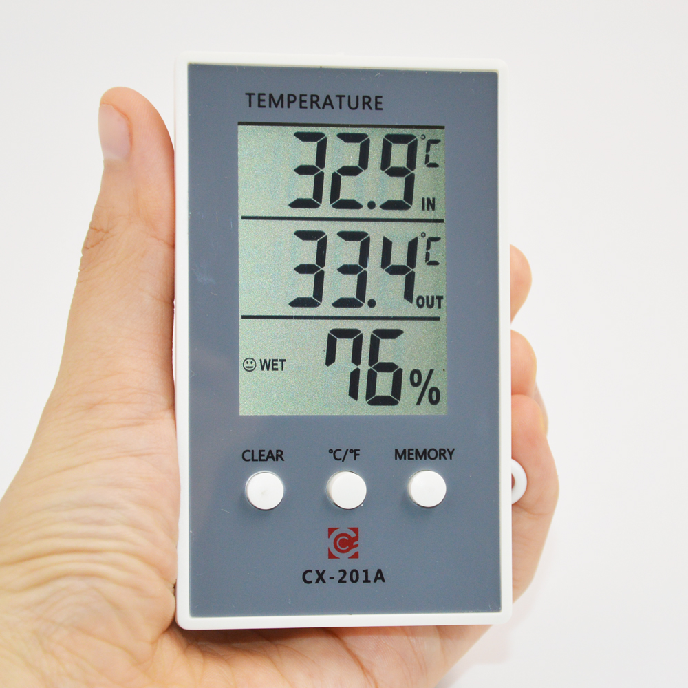 Thermometer Hygrometer Measure Temperature Humidity Digital LCD Meter Indoor Outdoor Weather Station Tester C/F Max Min Value dc12v 24v digital meter 20 100 degrees celsius thermometer dual display temperature meter for car water air indoor outdoor etc