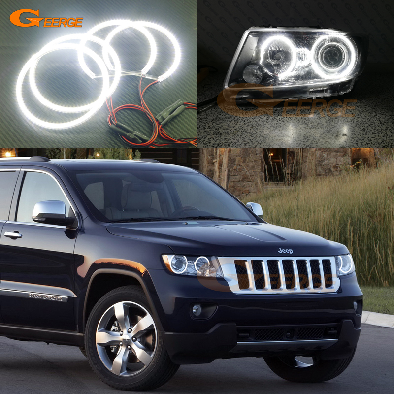 For JEEP GRAND CHEROKEE 2011 2012 2013 Xenon headlight Excellent Angel Eyes Ultra bright smd led Angel Eyes Halo Ring kit car rear trunk security shield shade cargo cover for jeep grand cherokee 2011 2012 2013 2014 2015 2016 2017 2018 black beige