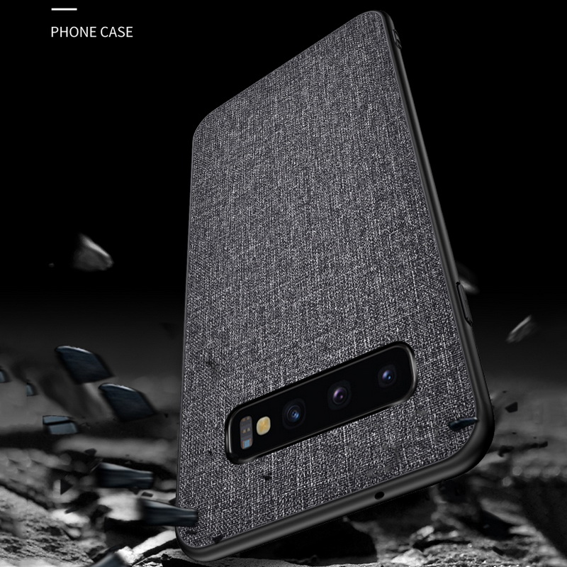 Luxury Slim Soft Fabric Cloth Back Skin Cover Coque For Samsung Galaxy S10 8