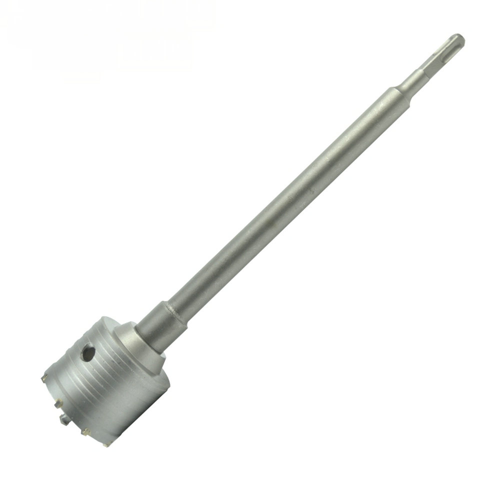 SDS Plus Shank Concrete Cement Stone 65mm Wall Hole Saw Drill 200mm Square Rod new arrival 1pc 65mm sds plus shank concrete cement stone wall hole saw drill bit with wrench hot sale