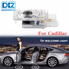 DXZ 2Pcs For Cadillac Car LED Door Welcome Logo Light Decoration Shadow Projector Lamp for CTS SRX XTS XT5 ATS-L