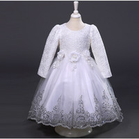 2016 Girls Christmas Dress White Red First Communion Dresses For Girls European Style Pageant Dresses For