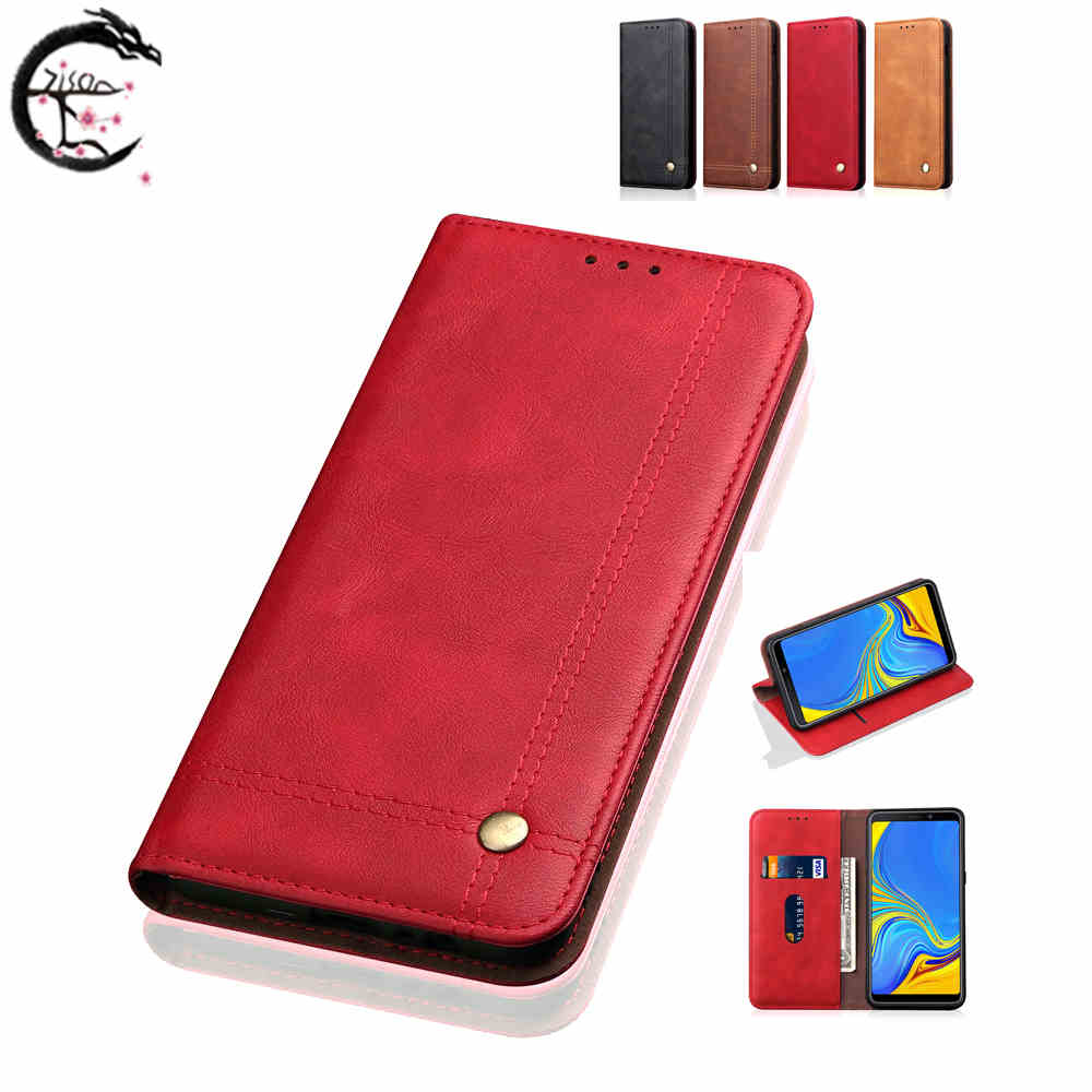 Flip Case Leather Cover for <font><b>Samsung</b></font> Galaxy <font><b>A8s</b></font> <font><b>G8870</b></font> A9s A9 2018 Shell Phone Wallet Cases A920 A9 Star Pro Card Holder Casing image