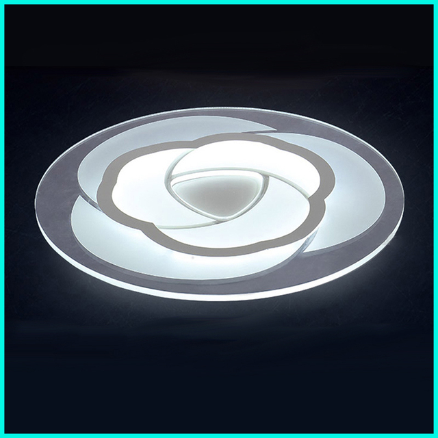 Led ceiling lamp modern simple circular living room bedroom restaurant light and light room lighting