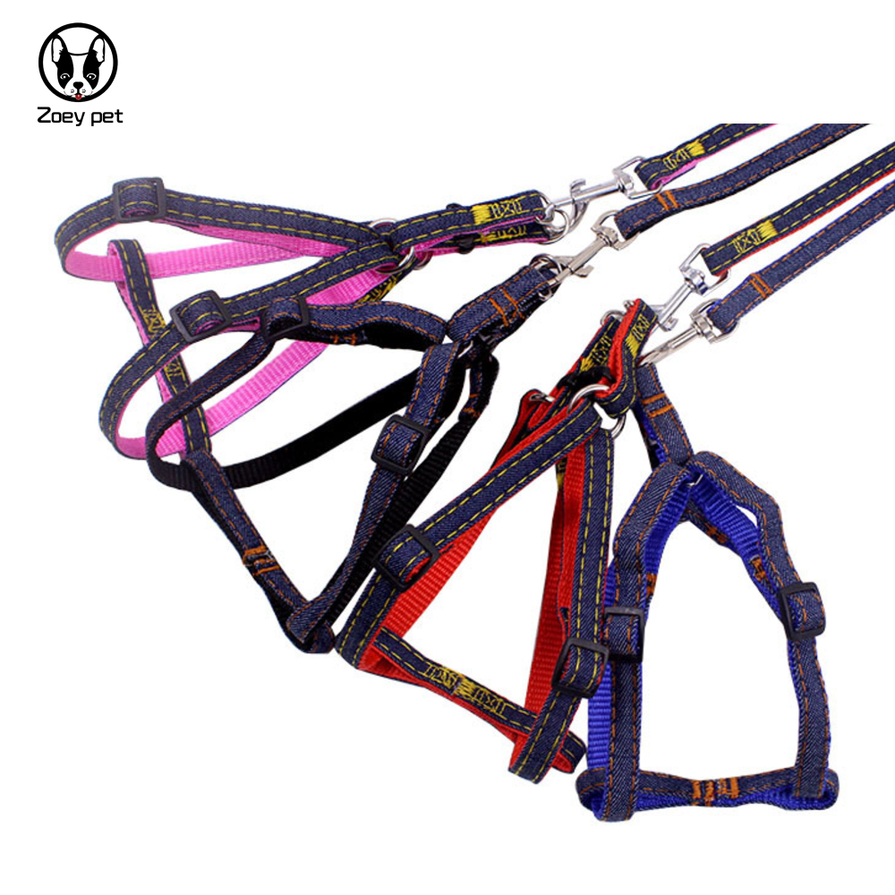 Dog collar and leash set Nylon dogs harness and leashes small large dog leashes accessories S M L XL