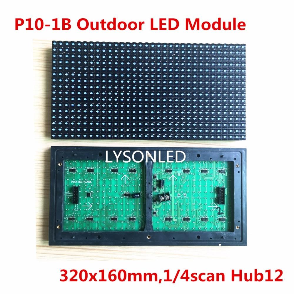 P10 Открытый голубой цвет DIP <font><b>LED</b></font> Дисплей модуль <font><b>32&#215;16</b></font> точек, водонепроницаемый P10 синий светодиод модуль для прокрутки вывеска