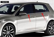 Высокое качество нержавеющей стали окна Автомобиля отделка полосы (4 шт.) для 2014 Volkswagen Golf 7