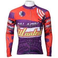 Free shipping New Angel Men Cycling Jersey Long Sleeve 2016 Polyester Breathable Bicycle Clothes Red / Purple Cycling Clothing(China)