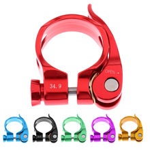 Ultralight Convenient Bike Bicycle MTB Seatpost Clamp Bike Tube Clip Seat Post Clamp Bicycle Parts Accessories 34.9mm leadxus carbon fiber alloy seatpost clamp bike seat post clamp bicycle seatpost clamp 34 9mm 31 8mm for 31 6mm 27 2mm seat post