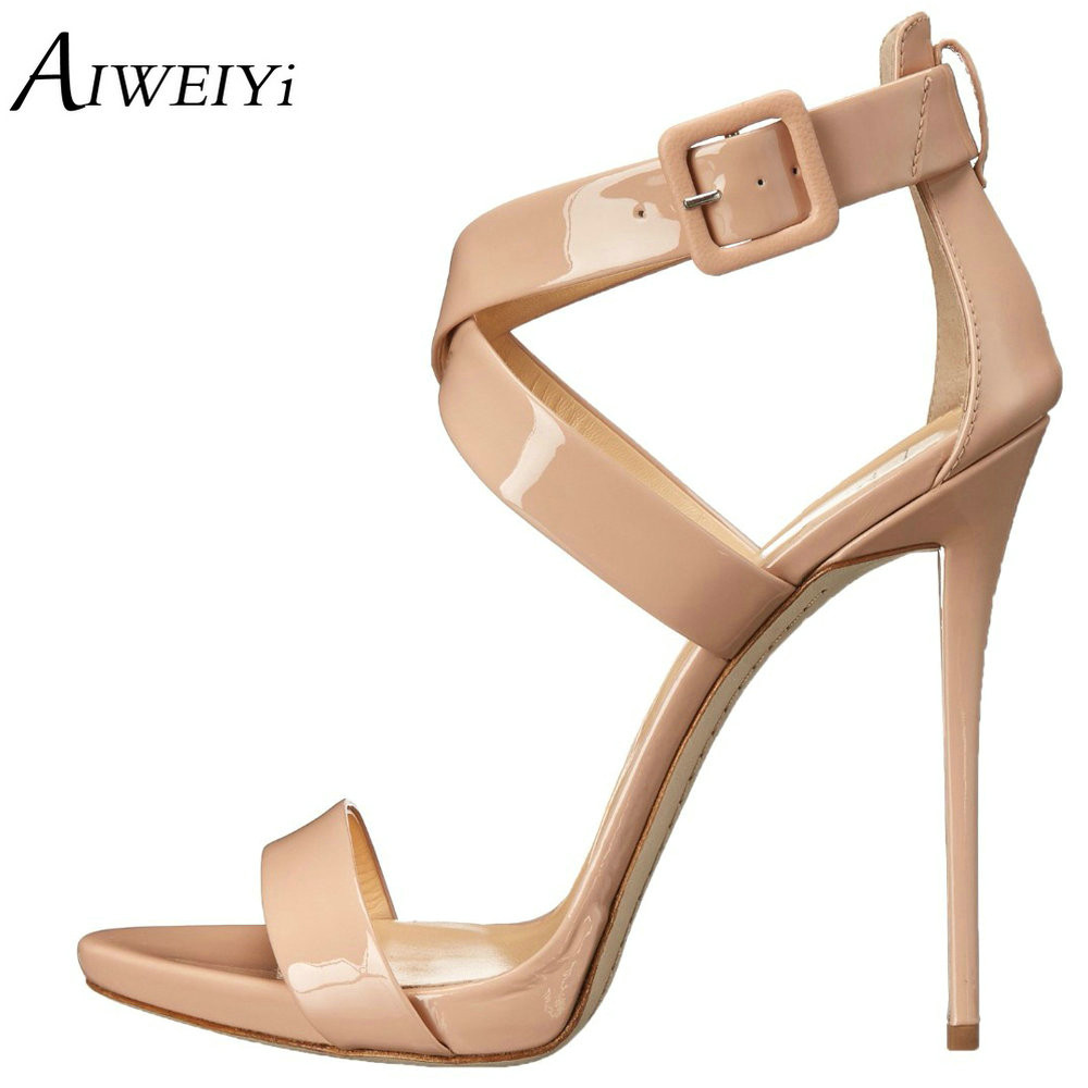 AIWEIYi 2018 Fashion Summer Open Toe High Heels sandals Buckle Strap Stilleto Heel Shoes Women For Party Dress Platform Shoes hot 2018 summer new fashion women sandals wedges shoes high heel sandals platform open toe buckle casual shoes