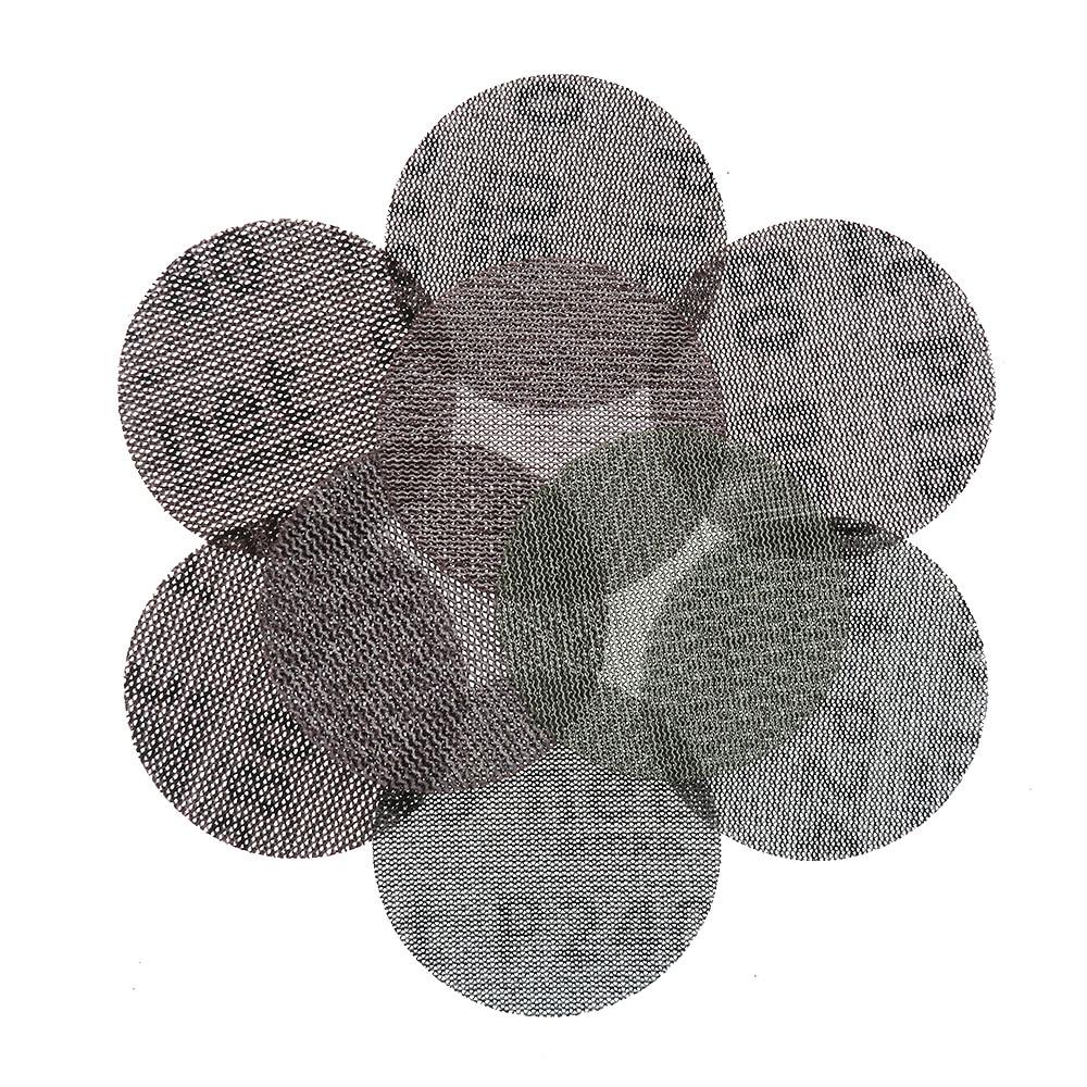 Image 5 - 15 pièces maille Abrasive sans poussière disques abrasifs 3 pouces 75mm Anti blocage sec meulage papier abrasif 80 à 240 grainOutils abrasifs   -