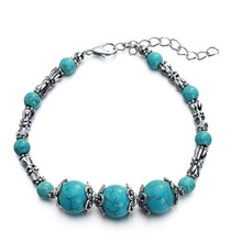 5pcs Natural Stone Beads Bracelets Women Men Fashion Jewelry Charm Gifts Green Color Handmade Vintage Bracelet Wholesale