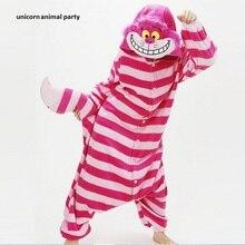 New Sleepsuit Cheshire Cat Pajamas Adult Onesie Animal Rompers Womens Jumpsuit Cartoon Cosplay Costumes Pyjama