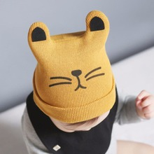 Knitted Cartoon Cat Ear Warm Beanie