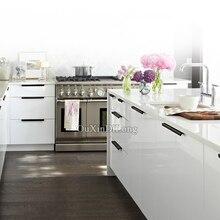 HOT 10PCS European Modern Kitchen Door Handle Cupboard Wardrobe Drawer Cabinet Invisible Hidden Pulls Handles Furniture Hardware стоимость