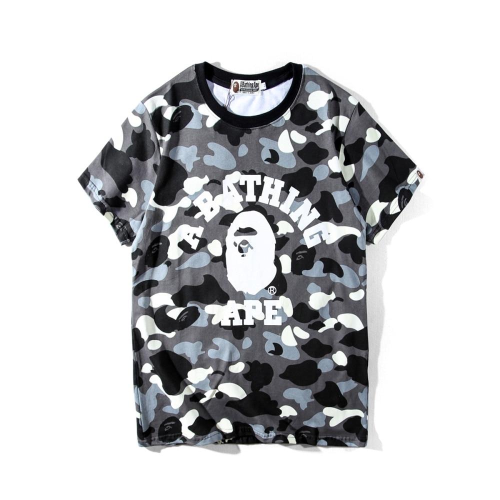 Bape t-shirt short sleeve frosted glass beads cotton bathing ape