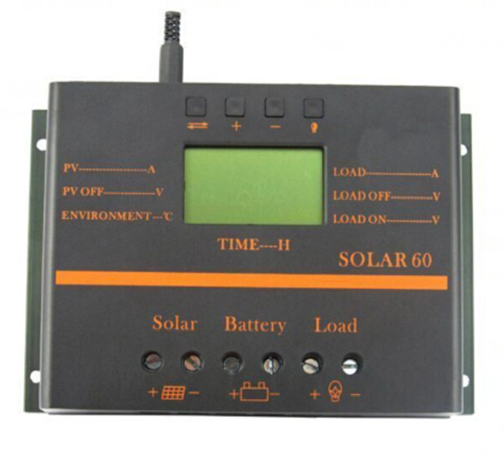 50A Solar Panel Charge Controller 12V/24V + LCD display Compatible with MAX 1440W Solar Panel 12V/24V Auto Switch купить