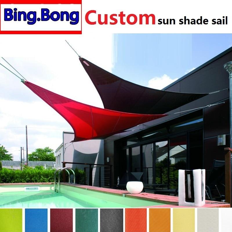European Custom Any Size Sun Shade Sail Pu Polyester Waterproof