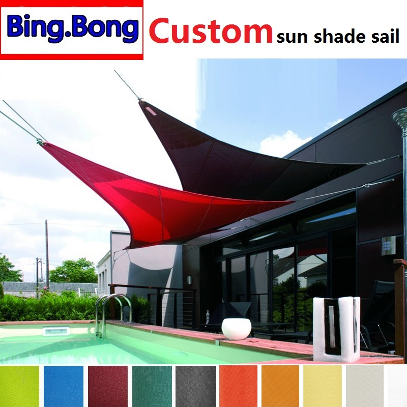Shade Shade Sails & Nets Trustful 5m Triangle Shade Sail Net Cloth Outdoor Swimming Pool Waterproof Sun Shade Sail Prevent Uv Canopy Home Garden Awning Cover Cap Numerous In Variety