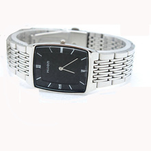 Fashion Chino Wilon Brand Top Quality Wristwatches Slim Two Pin Casual Men Lady Square Steel Clock W