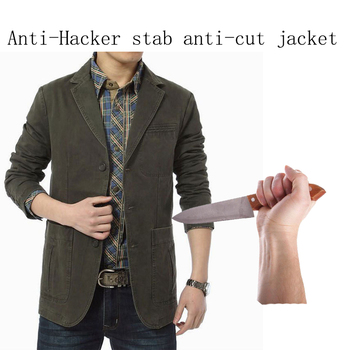 Stab-Resistant Anti-Cut Soft Stealth Jacket Self-Defense Anti Stab Police Fbi Swat Military Tactics Anti-Hacker Clothes 3XL self defense anti cutting stab fashion casual jacket fbi military tactical invisible soft safety politie kleding tactico policia