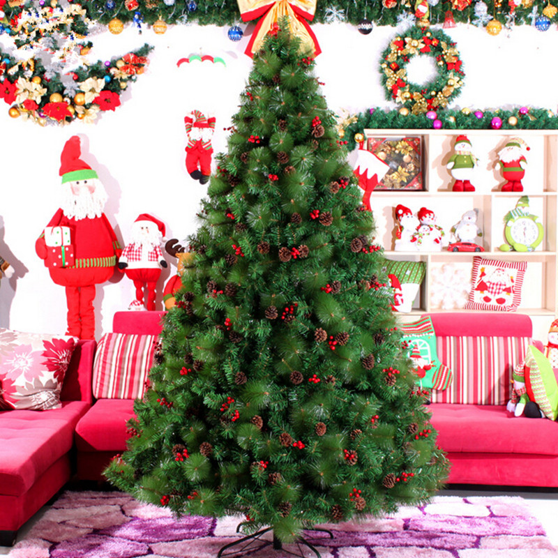 Christmas New Year Preferred 3 M / 300cm Large Christmas Tree Factory Outlets Echinacea Mixed Pine Needles Christmas Items