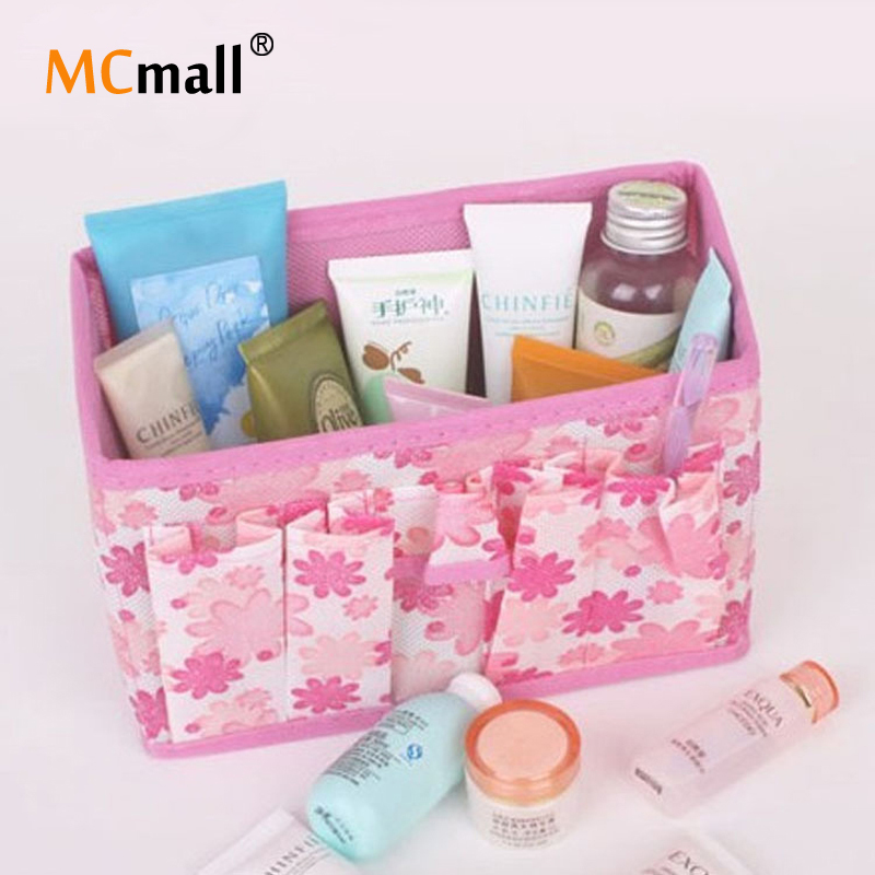 1 PCS Hot Sale Fashion Multifunction Beauty Flower New Folding Makeup Cosmetics Storage Box HZB-003