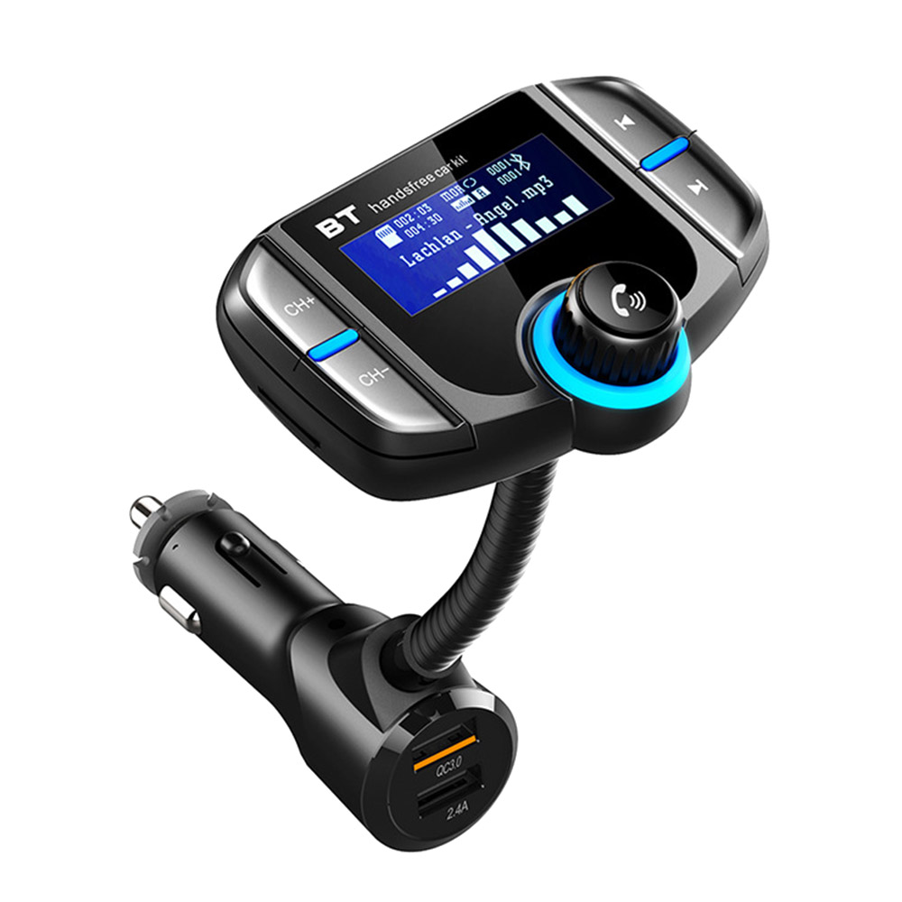Car MP3 Player Energy Saving Hands-Free Wireless Bluetooth FM Transmitter LCD