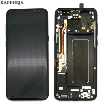 Super AMOLED For Samsung Galaxy Galaxy S8 G950 G950F Display S8+ S8 Plus G955 G955F LCD Display Touch Screen Digitizer Assembly