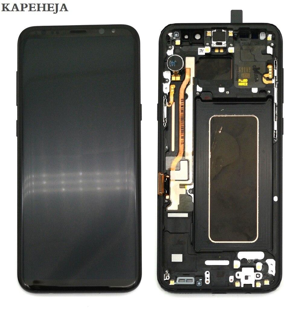 Super AMOLED Pour Samsung Galaxy Galaxy S8 G950 G950F Affichage S8 + S8 Plus G955 G955F écran lcd ensemble numériseur à écran tactile