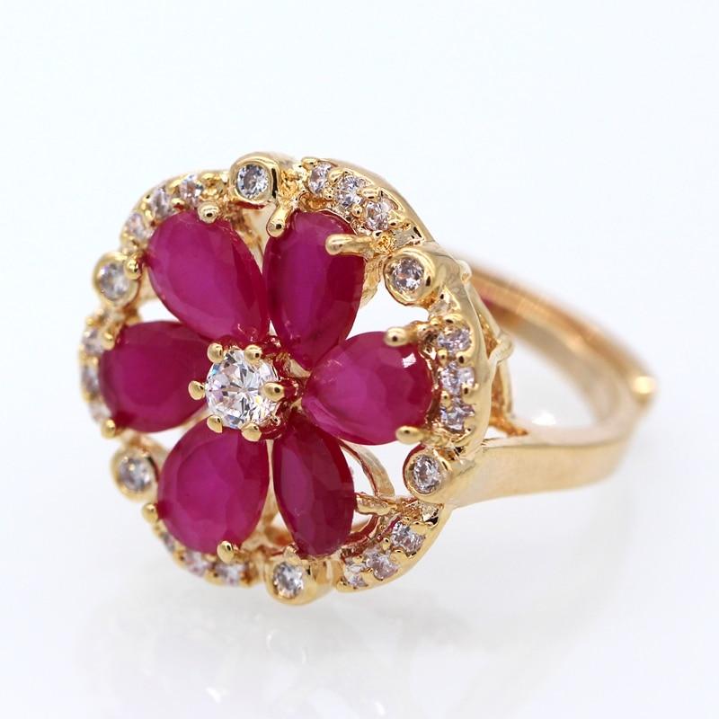 GZJY Κομψά Όμορφα Λουλούδια Σαμπάνια - Κοσμήματα μόδας - Φωτογραφία 5